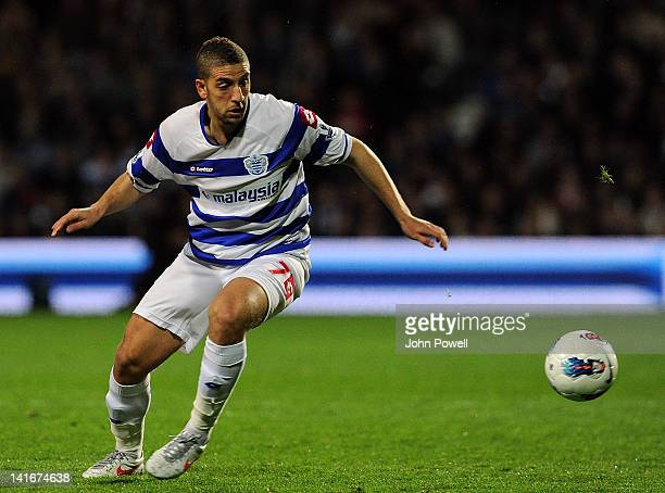 Adel Taarabt of Queens Park Rangers during the Barclays Premier League match between Queens Park Rangers and Liverpool at Loftus Road on March 21...
