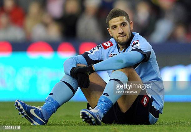 Adel Taarabt of Queens Park Rangers looks dejected during the Barclays Premier League match between Stoke City and Queens Park Rangers at Britannia...