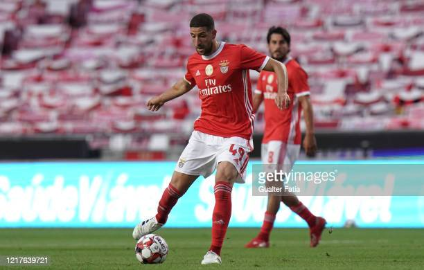 Adel Taarabt of SL Benfica in action during the Liga NOS match between SL Benfica and CD Tondela at Estadio da Luz on June 4 2020 in Lisbon Portugal