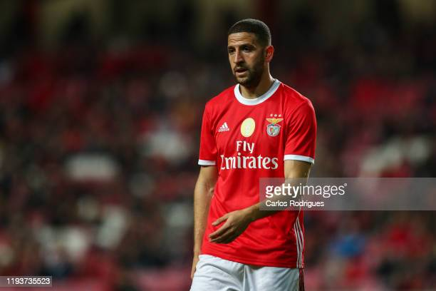 Adel Taarabt of SL Benfica looks on during the match between SL Benfica and Rio Ave FC for the Taca de Portugal at Estadio da Luz on January 14 2020...