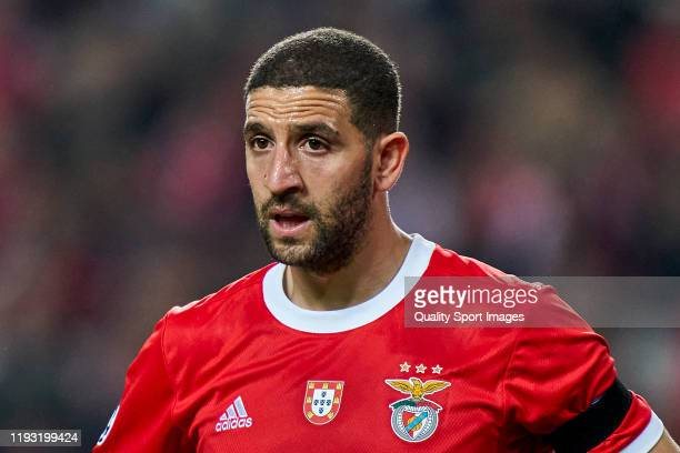 Adel Taarabt of SL Benfica looks on during the UEFA Champions League group G match between SL Benfica and Zenit St. Petersburg at Estadio da Luz on...