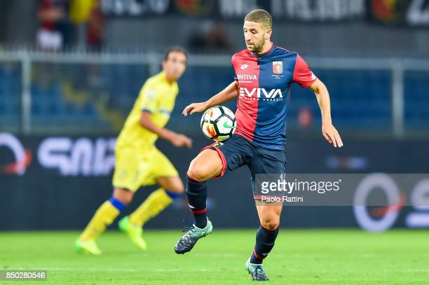 Adel Taarabtr of Genoa during the Serie A match between Genoa CFC and AC Chievo Verona at Stadio Luigi Ferraris on September 20 2017 in Genoa Italy