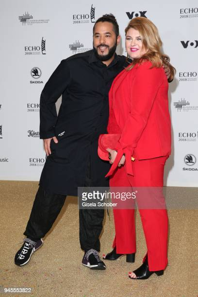Adel Tawil and Alina Wichmann arrive for the Echo Award at Messe Berlin on April 12 2018 in Berlin Germany