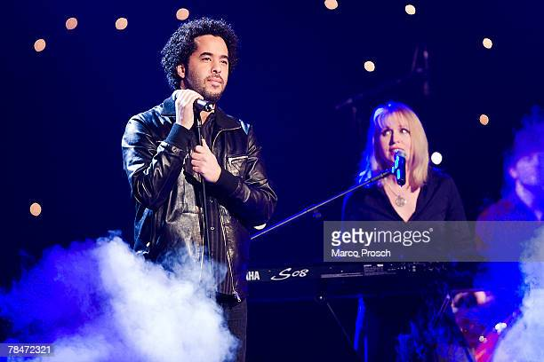 Adel Tawil and Annette Humpe alias ICHICH perform during the Jose Carreras Gala December 13 2007 in Leipzig Germany The annual TV Show is a...