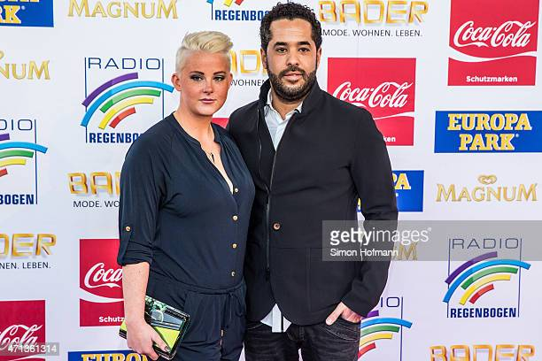 Adel Tawil and girlfriend Lena attend the Radio Regebenbogen Award Show 2015 at Europapark on April 24 2015 in Rust Germany