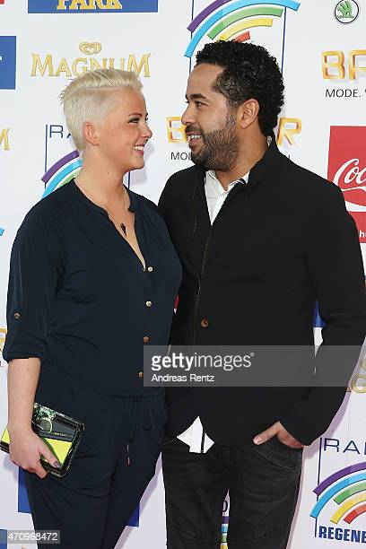 Adel Tawil and girlfriend Lena attend the Radio Regenbogen Award 2015 at Europapark on April 24 2015 in Rust Germany