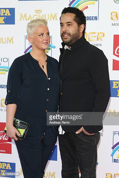 Adel Tawil and girlfriend Lena attend the Radio Regenbogen Award 2015 at Europapark on April 24, 2015 in Rust, Germany.