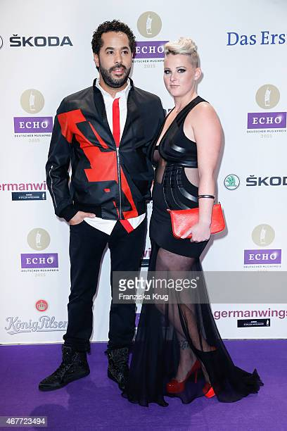 Adel Tawil and Jasmin Weber attend the Echo Award 2015 on March 26 2015 in Berlin Germany