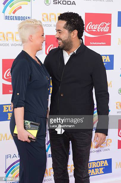 Adel Tawil and Lena attend the Radio Regenbogen Award 2015 on April 24 2015 in Rust Germany
