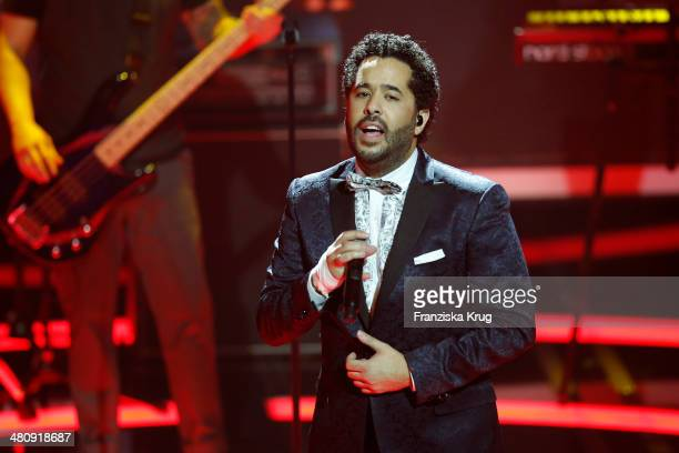 Adel Tawil performs at the Echo Award 2014 show on March 27 2014 in Berlin Germany