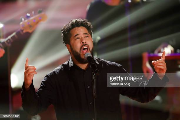 Adel Tawil performs at the Ein Herz Fuer Kinder Gala show at Studio Berlin Adlershof on December 9 2017 in Berlin Germany