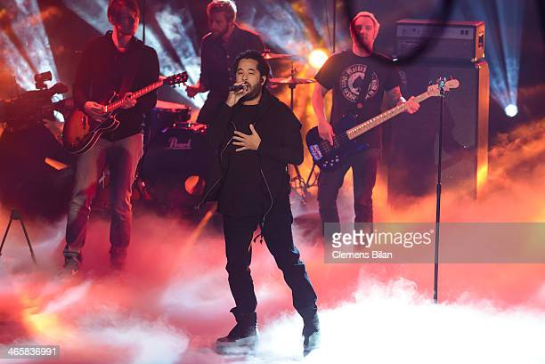 Adel Tawil performs at the taping of 'Back To School Gottschalks grosses Klassentreffen' Show on January 29 2014 in Berlin Germany