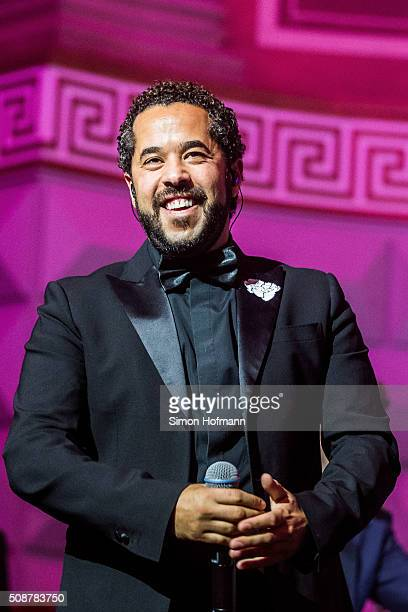 Adel Tawil performs during the German Sports Gala 'Ball des Sports 2016' on February 6 2016 in Wiesbaden Germany