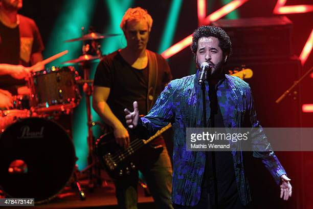 Adel Tawil performs during the TV Show 'Eurovision Song Contest Unser Song fuer Daenemark 2014' at Lanxess Arena on March 13 2014 in Cologne Germany...