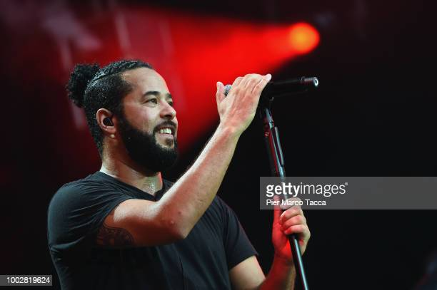 Adel Tawil performs on stage during Moon and Stars Festival on July 20 2018 in Locarno Switzerland