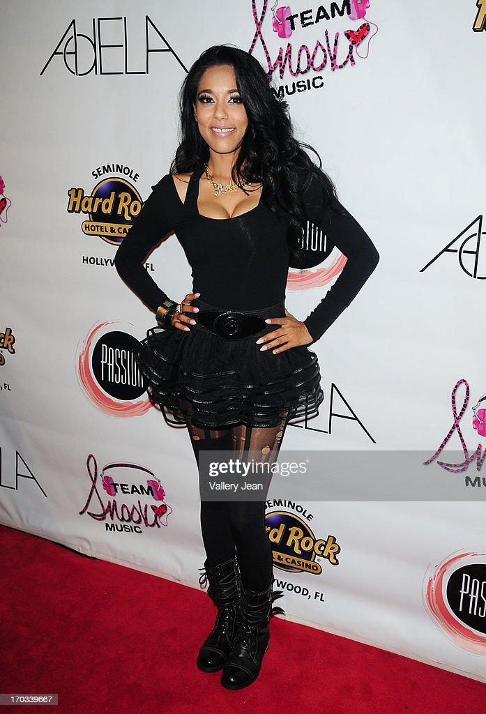 Adela arrives at Seminole Hard Rock Hotel & Casino - Hard Rock Cafe Hollywood on June 7, 2013 in Hollywood, Florida.