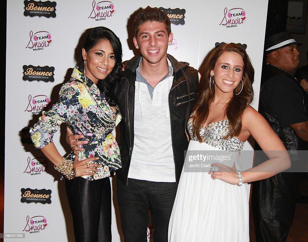Adela, Brandon 'B-Capp' Cappiello and Veronica Kole attend