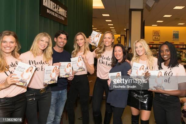 Adela Capova Nikki Sharp Nicholas Ferroni Sarah Deanna Jill de Jong Maura KyeCasella Liana WernerGray and Lauren Williams attend Models Do Eat book...