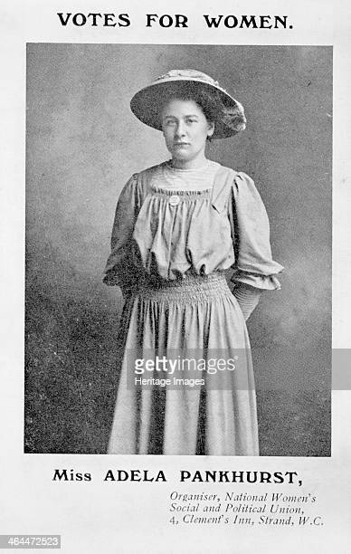 Adela Constantia Mary Pankhurst organiser c1908 In 1906 Adela gave up her job as an elementary school teacher in Manchester to become an organiser in...