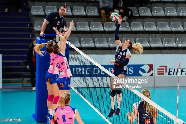 Adela Helic of Cannes during the Women's Ligue A Volleyball match between Paris St Cloud and Cannes on January 29 2019 in Paris France