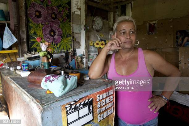 Adela Hernandez the first transgender person to be elected as a delegate at he the People's Power in Caibarien central Cuba here at his home on...
