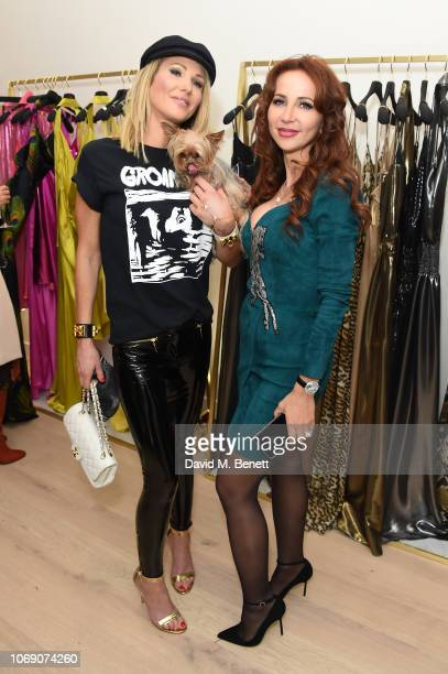 Adela King and Alina Roxana Moise attend Jitrois X Alina London Collaboration Launch Party at Fashion Joint on December 6 2018 in London England