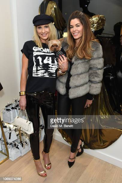 Adela King and Sophie Stanbury attend Jitrois X Alina London Collaboration Launch Party at Fashion Joint on December 6 2018 in London England