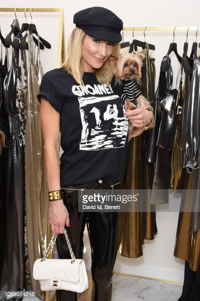 Adela King attends Jitrois X Alina London Collaboration Launch Party at Fashion Joint on December 6 2018 in London England