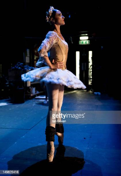 Adela Ramirez of the English National Ballet perform during a dress rehearsal of Swan Lake at the Coliseum on August 3 2012 in London England