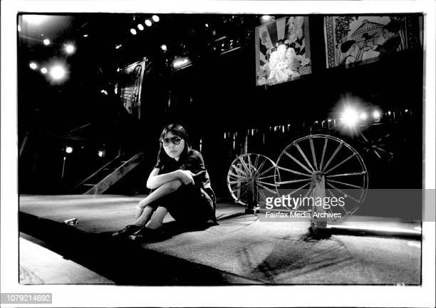 Adelaide Arts FestivalMs Rio Kishida writer of 'Woven Hell' on the set at the Space Theatre in the Adelaide Festival Centre March 07 1992