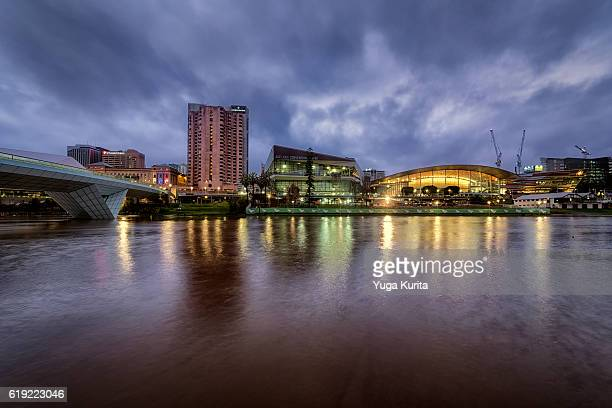 adelaide at night - adelaide stock pictures, royalty-free photos & images