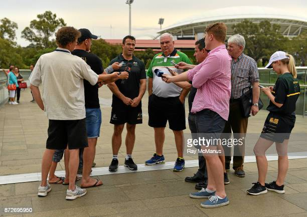 Adelaide Australia 11 November 2017 The Eirgrid Ireland team manager Joe Kernan and the Australian manager Chris Scott are interviewed after the...