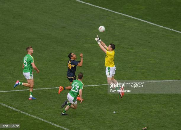 Adelaide Australia 12 November 2017 Eddie Betts of Australia punches the ball over the head of Ireland goalkeeper Niall Morgan only to have it saved...