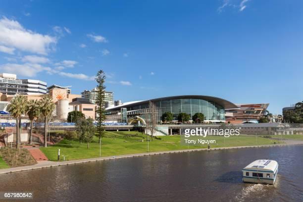 Adelaide, Australia - June 15, 2017: Adelaide city in Australia, Capital of South Australia in daytime beside Torrens River