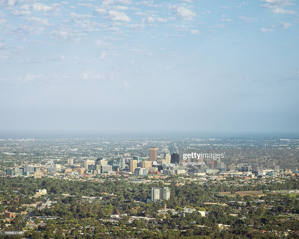 Adelaide Cityscape in Summer : Stock Photo