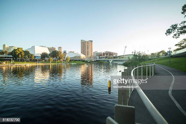 adelaide cityscape in summer - adelaide stock pictures, royalty-free photos & images