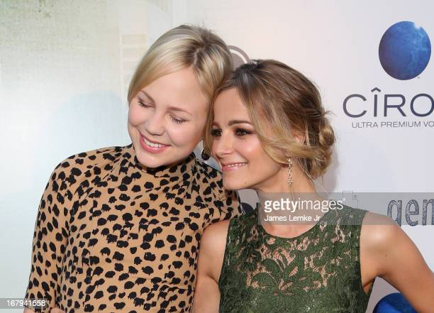 Adelaide Clemens and Bojana Novakovic attend the 'Generation Um' Los Angeles premiere presented by GenArt and Phase 4 Films held at the ArcLight...