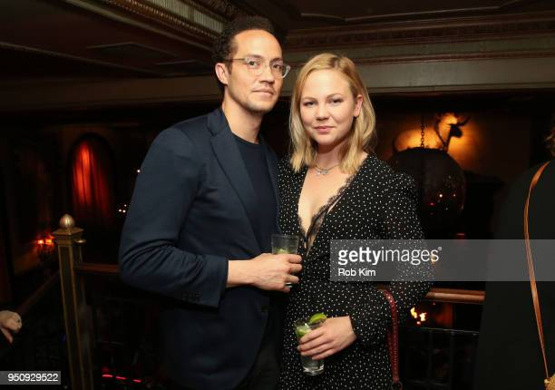 Adelaide Clemens and guest attend the Tribeca Premiere Party for 'The Caretaker' at The Jane Hotel on April 24 2018 in New York City