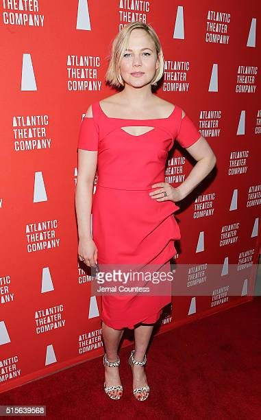 Adelaide Clemens attends the 'Hold On To Me Darling' opening night after party at The Gallery at The Dream Downtown Hotel on March 14 2016 in New...