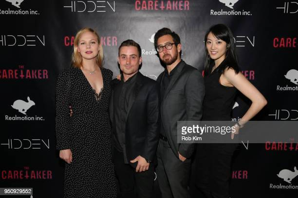Adelaide Clemens Jacob Wasserman Adam Donald and Clara Wong attend the Tribeca Premiere Party for 'The Caretaker' at The Jane Hotel on April 24 2018...