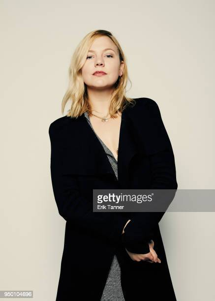 Adelaide Clemens of the film The Caretaker poses for a portrait during the 2018 Tribeca Film Festival at Spring Studio on April 22 2018 in New York...
