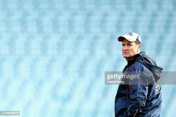 Adelaide Crows interim coaching diretor John Worsfold looks on during an Adelaide Crows AFL training session at AAMI Stadium on July 8 2015 in...