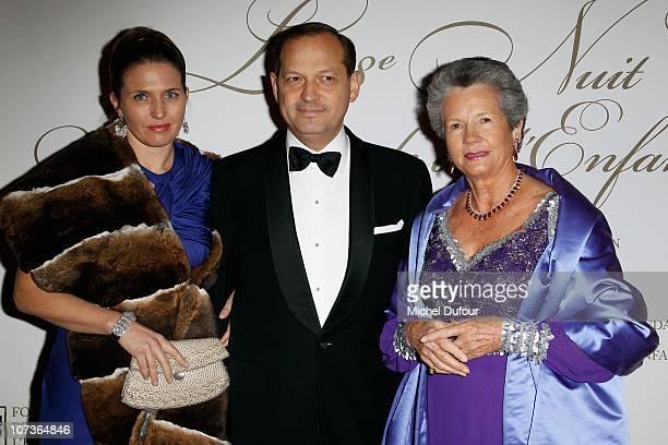 Adelaide De Bourbon her husband and AnneAymone Giscard d'Estaing attend the Nuit de l'Enfance 2010 Gala in Versailles at Chateau de Versailles on...