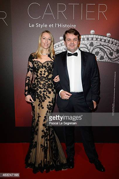 Adelaide de Clermont Tonnerre and guest arrive at the 'Cartier Le Style et L'Histoire' Exhibition Private Opening at Le Grand Palais on December 2...