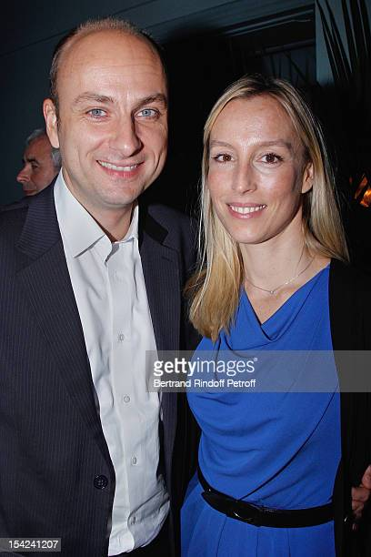 Adelaide de Clermont Tonnerre and her husband attend 'La Conversation' By Jean D'Ormesson at Theatre Hebertot on October 16 2012 in Paris France