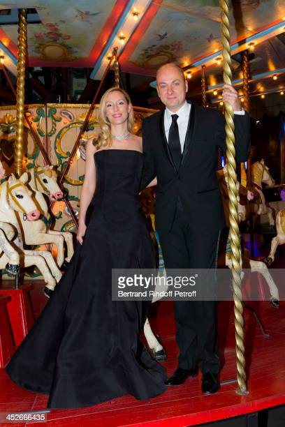 Adelaide de Clermont Tonnerre and Laurent Delpech attend the Mimi Foundation gala dinner at Musee des Arts Forains on November 30 2013 in Paris France
