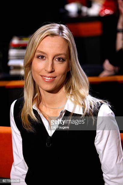 Adelaide De Clermont Tonnerre on the set of TV show Au Field de la Nuit