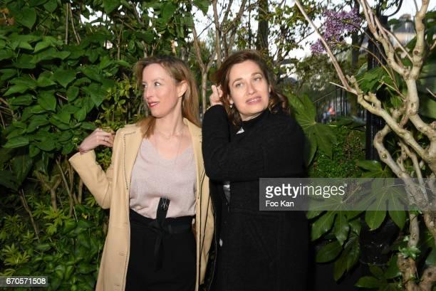 Adelaide de ClermontTonnerre and Emmanuelle Devos attend 'La Closerie Des Lilas' Literary Awards 2016 At La Closerie Des Lilas on April 19 2017 in...