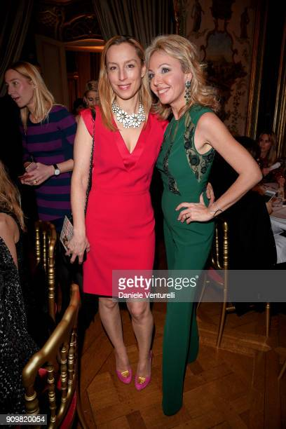 Adelaide de ClermontTonnerre and Princess Camilla Duchess of Castro attend the Cocktail Dinner for the new Pomellato campaign launch with Chiara...