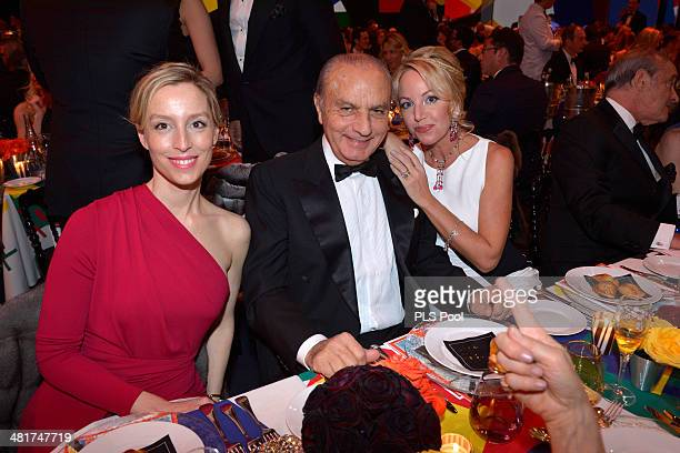 Adelaide de ClermontTonnerre Samir Traboulsi and Princess Camilla of BourbonTwo Sicilies attend the Rose Ball 2014 in aid of the Princess Grace...